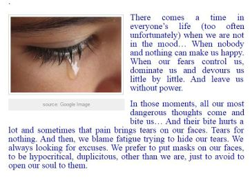 Fears, Tears and Life control - 01